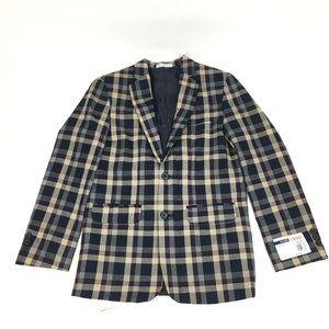 Izod  NEW Plaid Blazer Sport Coat Dress Suit Jacke